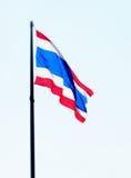 Stor thailändsk flagga Arkivbild