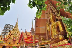 stor tham för tempel för buddha bildsua Royaltyfri Bild