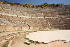 stor theatre för ephesus Arkivfoto