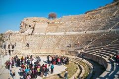 stor theatre för ephesus Royaltyfri Foto