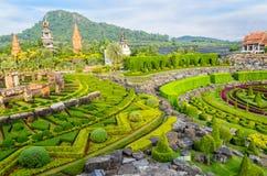 Stor trädgård i Thailand Arkivfoton
