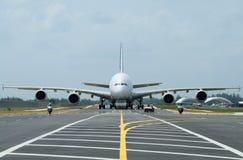 stor trafikflygplan Arkivbild