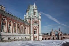 stor tsaritsyno för moscow museumslott Royaltyfria Bilder