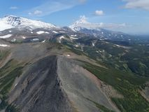 Stor tur till Kamchatka Mystiska ställen arkivfoto