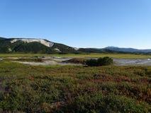 Stor tur till Kamchatka Mystiska ställen royaltyfri fotografi