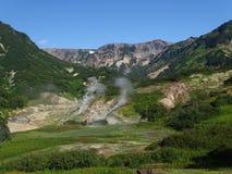 Stor tur till Kamchatka Mystiska ställen royaltyfria foton