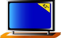 stor tv Royaltyfri Fotografi