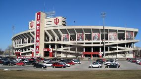stor universitetar för fotbollindiana stadion tio Royaltyfri Bild