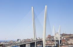 Stor upphängningbro royaltyfri fotografi