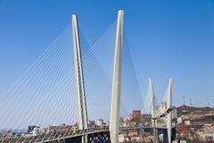 Stor upphängningbro arkivfoto