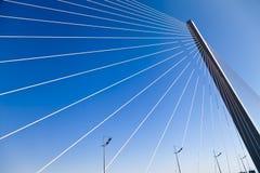 Stor upphängningbro royaltyfria foton