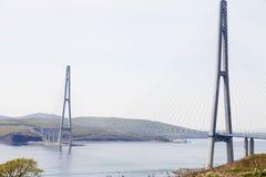 Stor upphängningbro royaltyfri foto