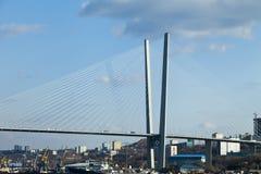 Stor upphängningbro Arkivbilder