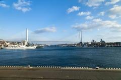 Stor upphängningbro Royaltyfri Bild