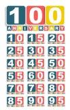 Stor uppsättning av årsdagetiketttecknet för ditt datum Vektorillustra Arkivbilder