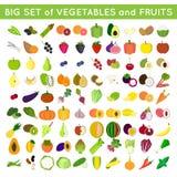 Stor uppsättning av frukter och veggies Royaltyfri Bild
