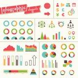 Stor uppsättning av infographicsbeståndsdelar royaltyfri illustrationer