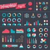 Stor uppsättning av infographicsbeståndsdelar stock illustrationer