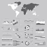 Stor uppsättning av infographicsbeståndsdelar Vektorillustration för busine Royaltyfri Bild