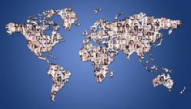 Stor uppsättning av olika affärsbilder Arkivfoton