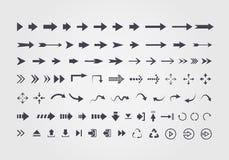 Stor uppsättning av olika vektorpilar