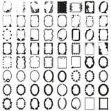 Stor uppsättning av ramar härlig vektor Royaltyfria Bilder