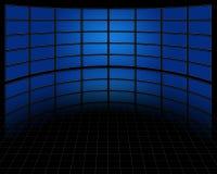 Stor uppsättning av skärmar Fotografering för Bildbyråer