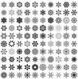 Stor uppsättning av snöflingor Royaltyfri Fotografi