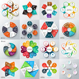 Stor uppsättning av vektorbeståndsdelar för infographic Royaltyfri Bild