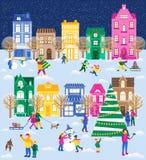 Stor uppsättning för jul royaltyfri illustrationer