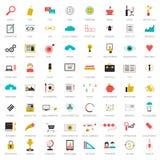 Stor uppsättning för SEO-symboler Royaltyfri Bild