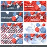 Stor uppsättning - självständighetsdagenbaner Arkivbild