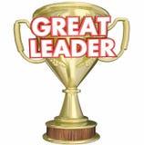 Stor utmärkelse för ledarechefBoss Superviser Trophy pris Royaltyfria Foton