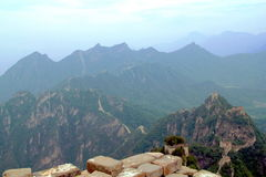 Stor vägg av den Kina utsikten Arkivbild