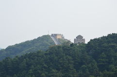 Stor vägg av den Kina vakten Towers Royaltyfria Bilder