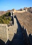 Stor vägg av det Kina Jinshanling-Simatai avsnittet Fotografering för Bildbyråer