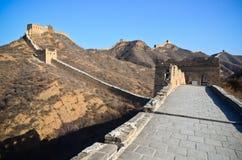 Stor vägg av det Kina Jinshanling-Simatai avsnittet Arkivfoto