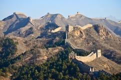 Stor vägg av det Kina Jinshanling-Simatai avsnittet Arkivfoton