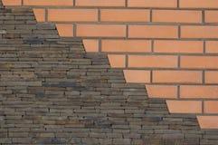 stor vägg av gamla röda tegelstenar Royaltyfria Foton