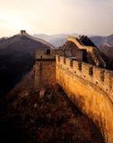 Stor vägg av Kina i morgonen arkivfoton