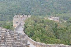 Stor vägg av Kina med vakten Towers Royaltyfri Bild