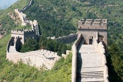 Stor vägg av Kina, Miyun område, Habei, Kina Fotografering för Bildbyråer
