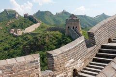 Stor vägg av Kina, Miyun område, Habei, Kina Royaltyfria Bilder