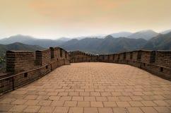 Stor vägg av Kina, nord av Peking arkivbild