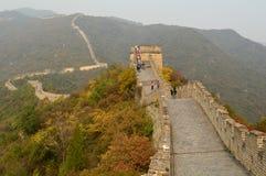Stor vägg av Kina på Mutianyu Arkivbilder