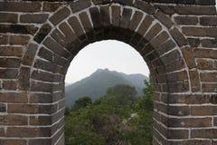 Stor vägg av Kina på Mutianyu Arkivbild