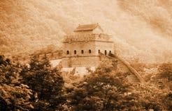 stor vägg för forntida porslin Royaltyfri Bild