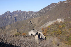 stor vägg för porslin Mutianyu royaltyfri foto