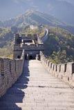 stor vägg för porslin Mutianyu royaltyfri bild