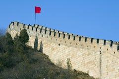 stor vägg ii för porslin royaltyfria foton